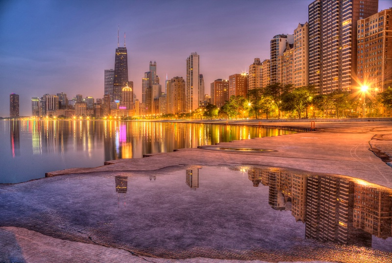 Chicago Reflections - ID: 14937874 © Leslie McLain