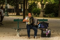 Accordian Player at Eiffel Tower