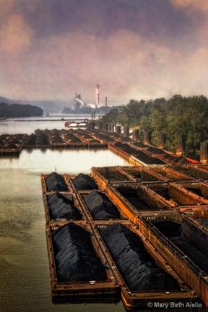 Coal Barges on the Monongahela