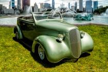 Classic Car at Buckingham Fountain