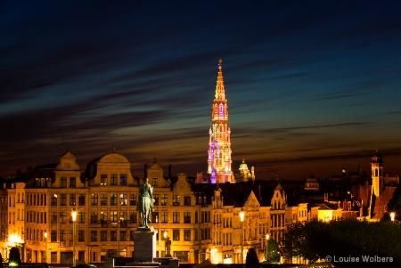Dusk in Brussels