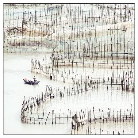 Pêcheur a Xiapu Chine