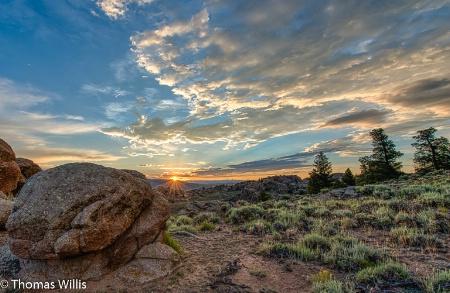 Sunrise, Hartman Rocks