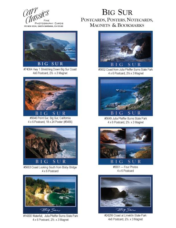 Big Sur photographs in Carr Classics catalog, p1