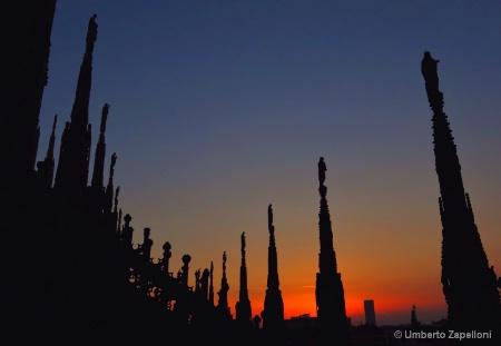 Sunset on Duomo of Milano