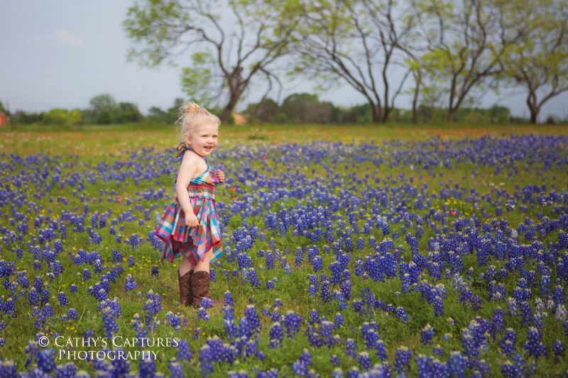 ~Emma in the Blue Bonnets~ - ID: 14982595 © Cathy A. Rose