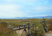 Riding bikes at Coastal Half Moon Bay