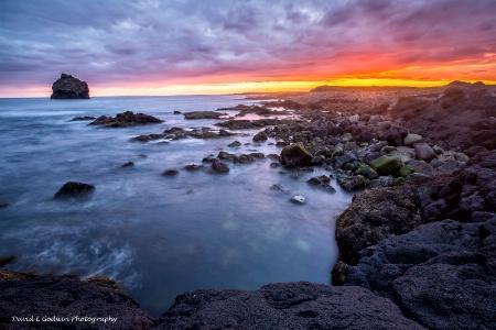 Sunset along Iceland's Coast