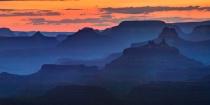 Orange Sky Over Blue Canyon