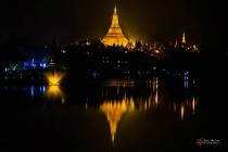Night Scene of Shwe Dagon Pagoda