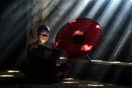 monk studying