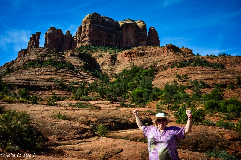 Joann at Cathedral Rock - Sedona - ID: 15004630 © John D. Roach