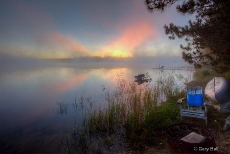 Sunrise on Prinel Lake, WI
