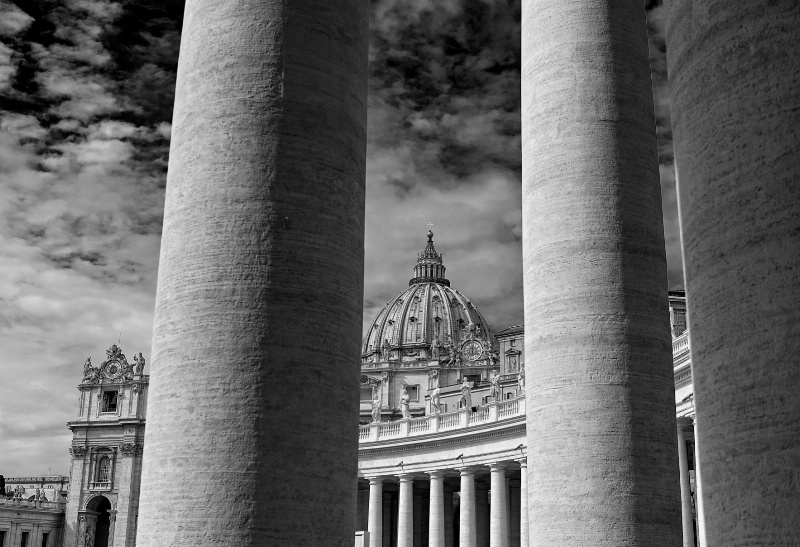St. Peter's Basilica in B&W