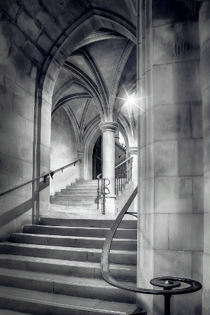Looking Up the Crypt Stairs