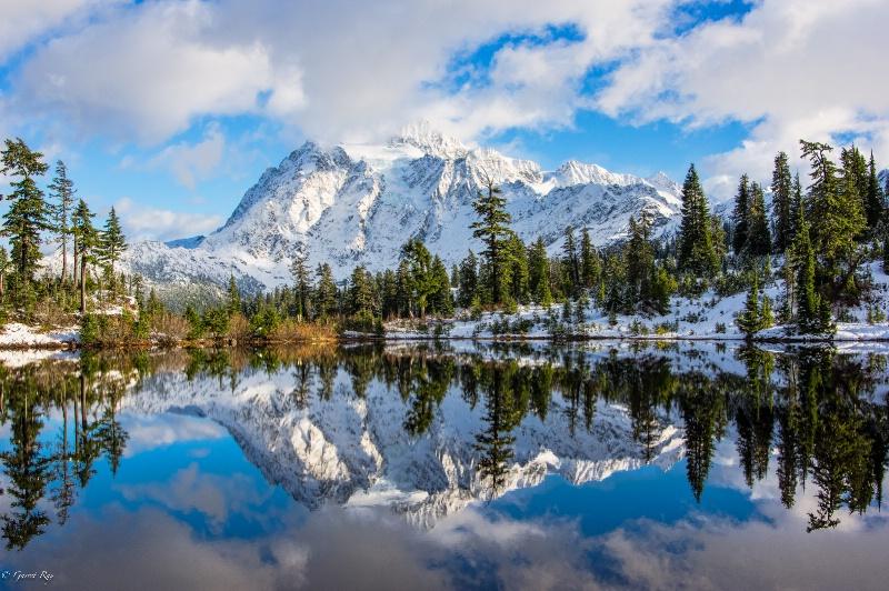 ~Mt Shuksan @ Picture Lake~