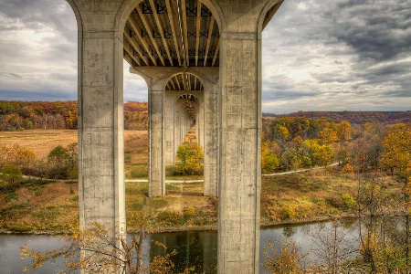 Fall Bridge View