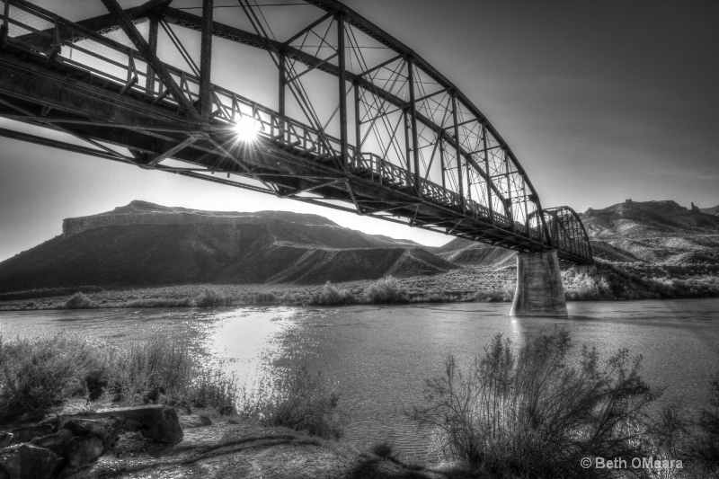 Celebration Park Bridge Black and White - ID: 15041523 © Beth OMeara