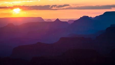 Purple Canyon Sunset
