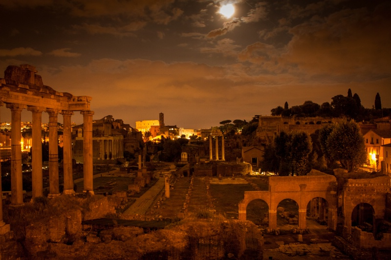 Roman Forum at Full Moon