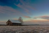 Barn On The Frosty Fields
