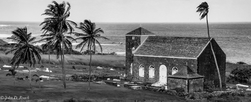 The Little Church on St. Kitts, West Indies