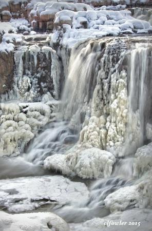 Winter at Big Sioux Falls