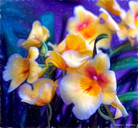 Painterly Orchids