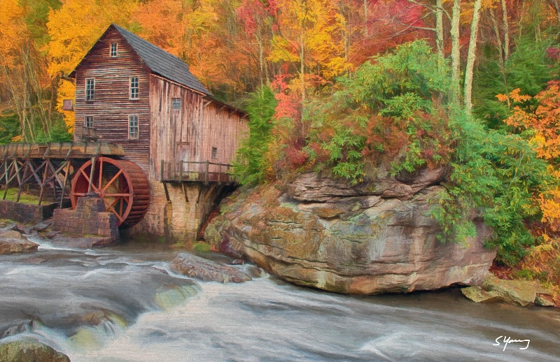 Grist Mill; Babcock State Park, W Va - ID: 15068450 © Richard S. Young