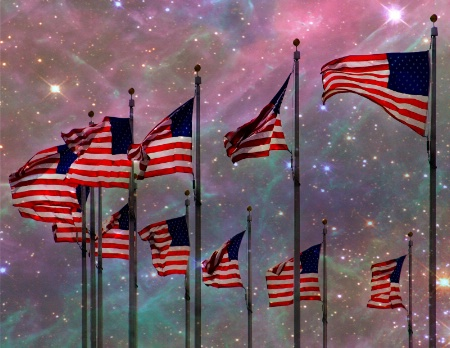 Many Stars  And Stripes
