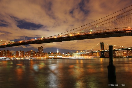 Brooklyn bridge & Manhattan bridge