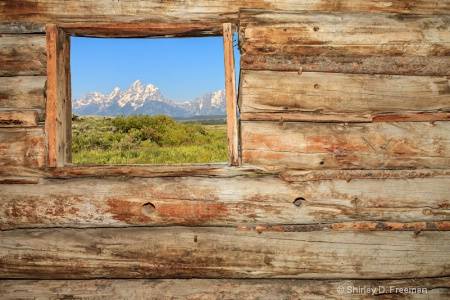 Window View of the Tetons