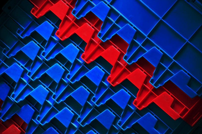 Red and Blue Interlock