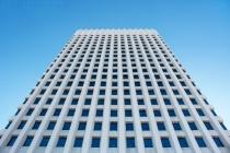 Skyscraper in Blue & White
