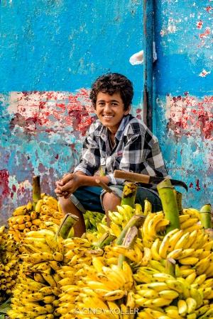 Banana Salesman in India