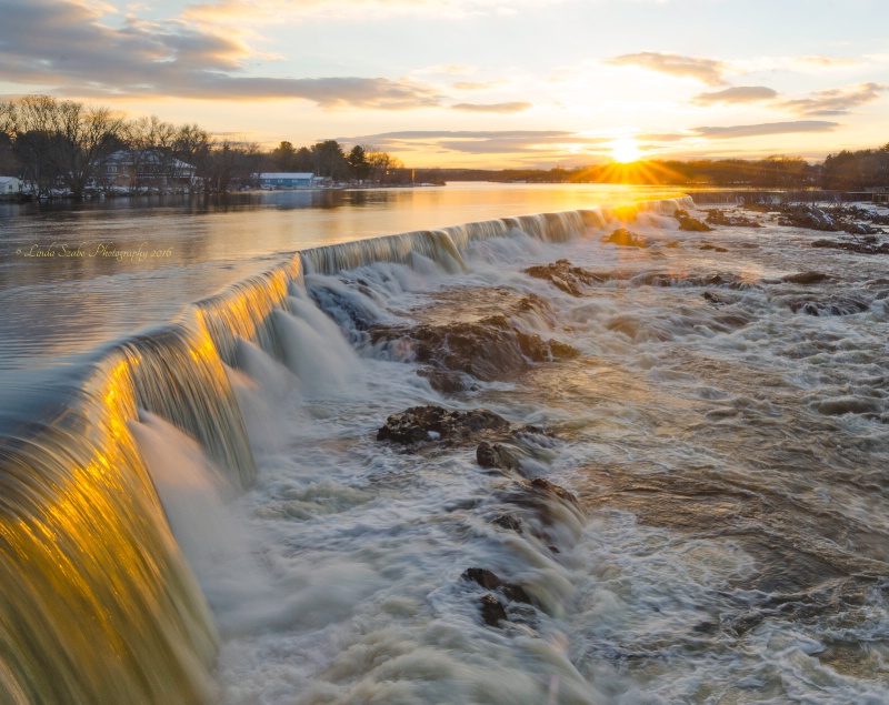 Sunset over Pawtucket Falls