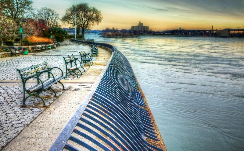Walkway Along East River