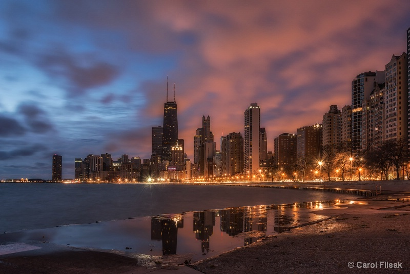North Avenue Beach at Twilight
