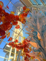 Seattle Space Needle through Chihuly Glass Exhibit