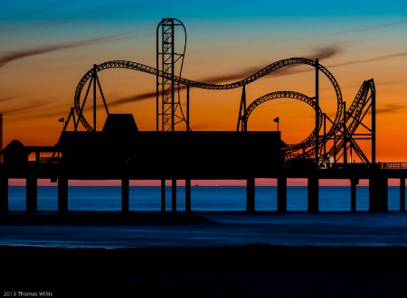 Roller Coaster, Galveston, Tx