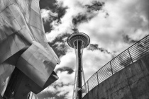 Space Needle and EMP Museum