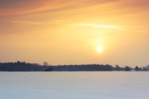 Orange Sky Of The Winter Sunrise