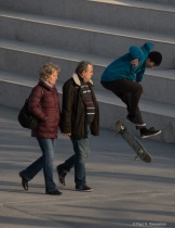 Skate boarder annoying people (Please Critique)