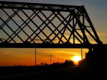 Iron Bridge at Sunset