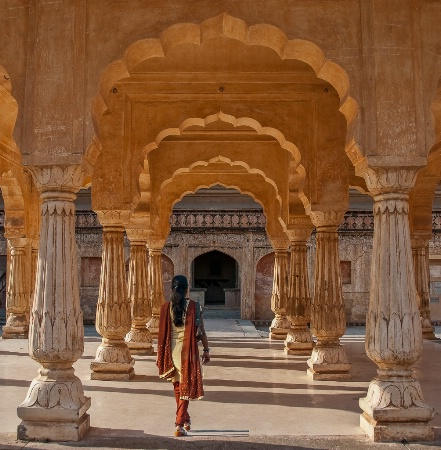 The Arches of Amber Fort