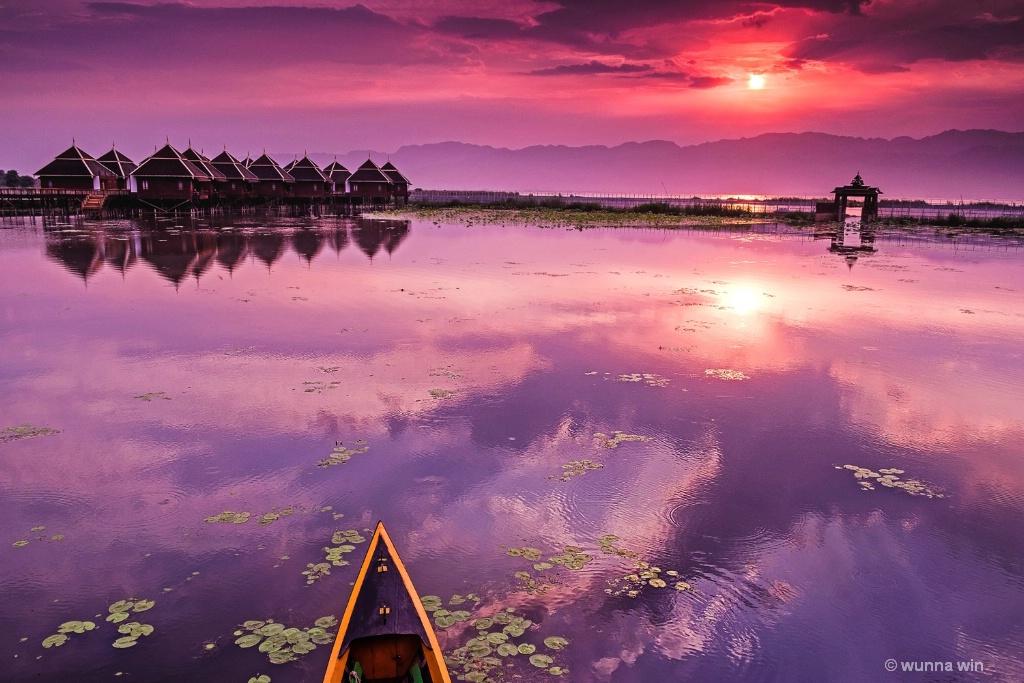 sunrise Inlay lake