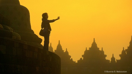 The lady traveller in Borobudur