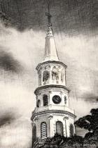 Artistic B&W Charleston Church 4-12-16 027