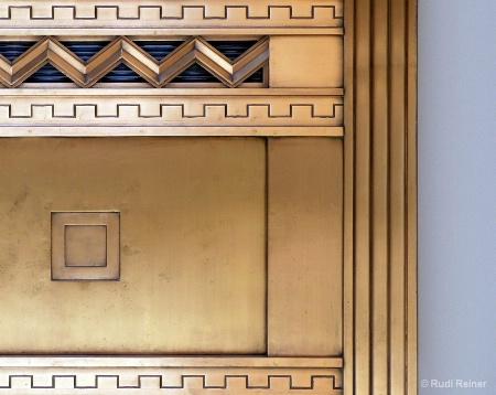 Brass door details