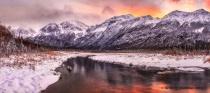Fire On the Chugach Mountains